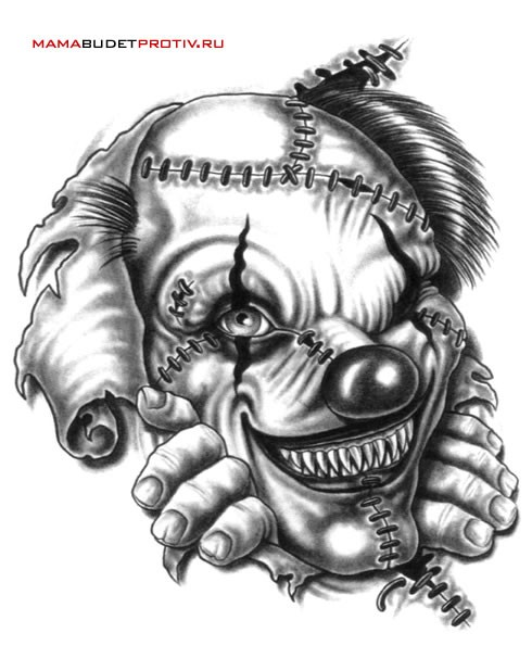 Clown Tattoo Images amp Designs