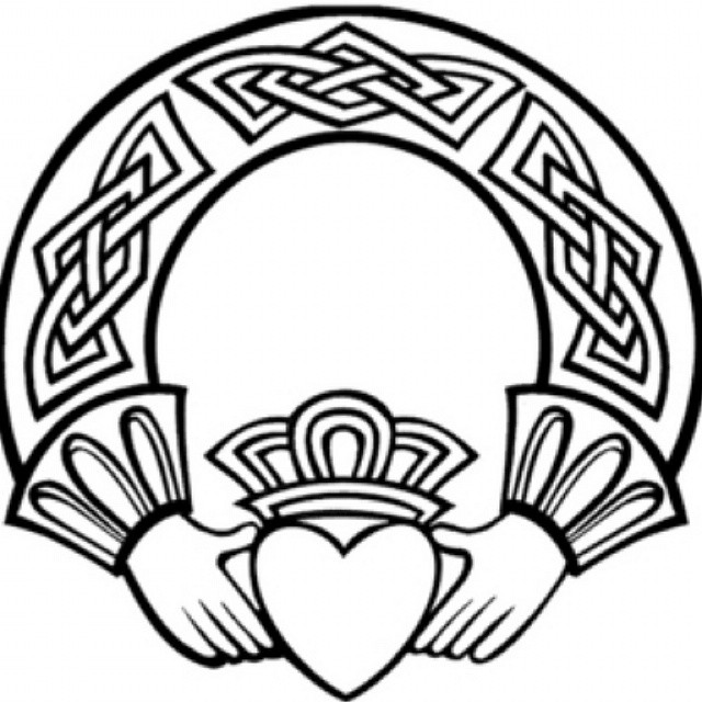 Celtic Claddagh Tattoo Design