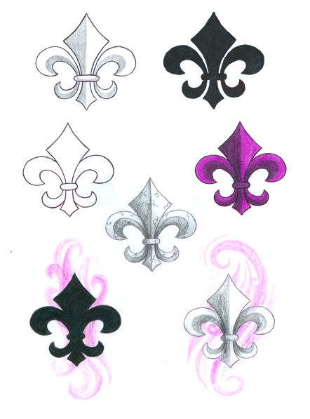 Fleur De Lis Tattoos Samples