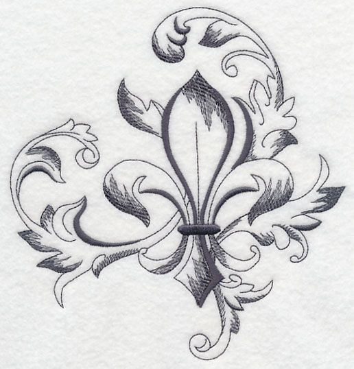 Red Fleur De Lis Tattoo Design