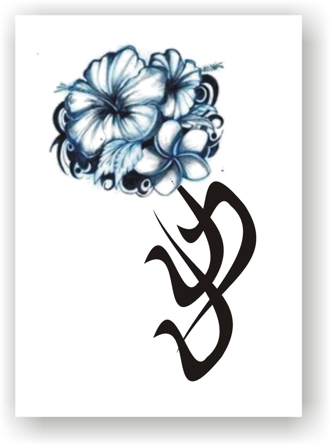 Hibiscus Flower Tattoo Stencil: Hibiscus Tattoo Images & Designs