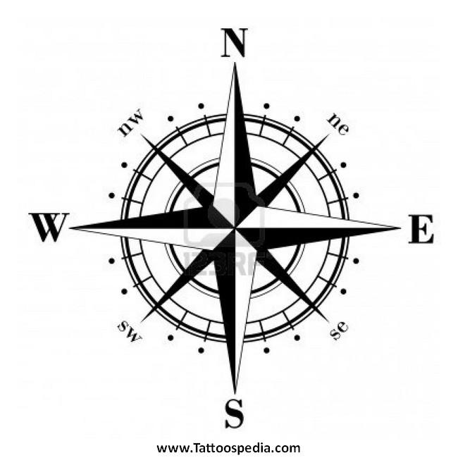 Nautical Compass Tattoo Design Idea