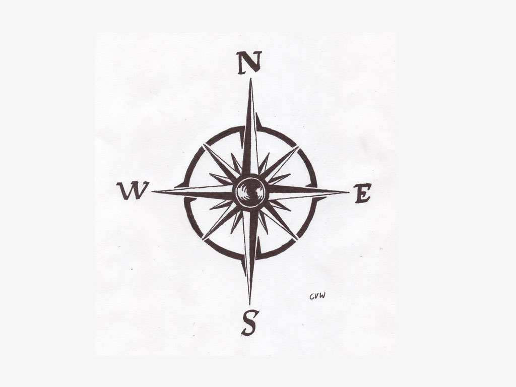 Nice Compass Tattoo Design Idea