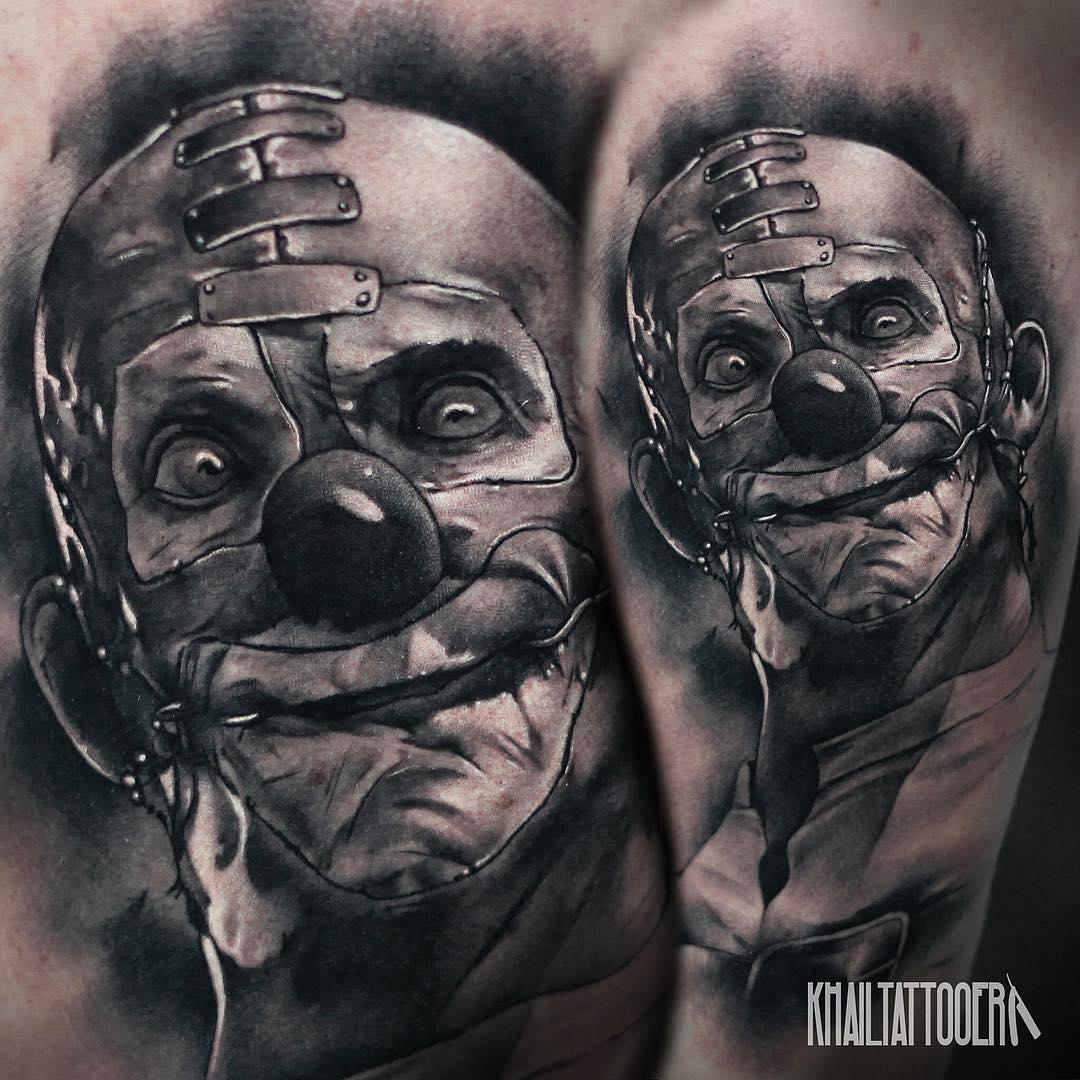 Realistic Clown Tattoos Idea