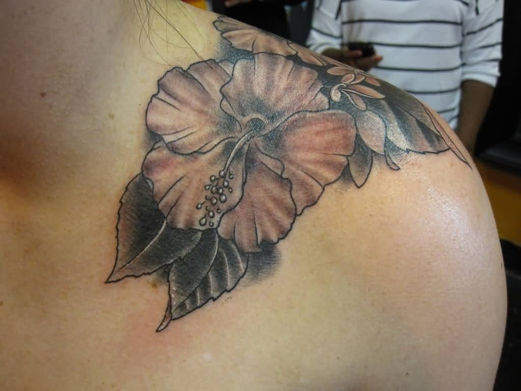 35 hibiscus tattoos on shoulder upper shoulder hibiscus tattoo izmirmasajfo