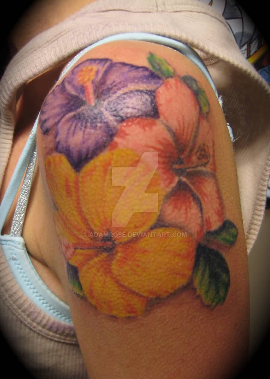 Hibiscus tattoo images designs wonderful hibiscus tattoo on shoulder by adamrose d3hcolg izmirmasajfo