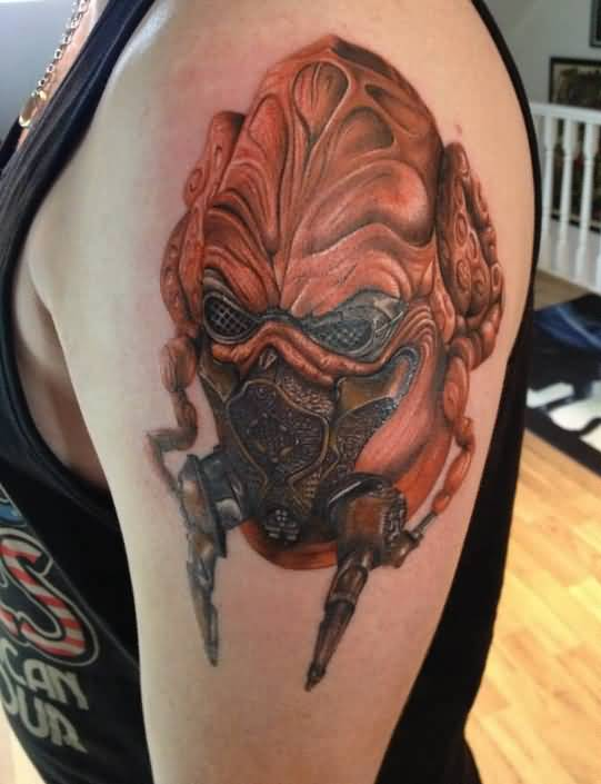 Left Shoulder Alien Tattoo Idea