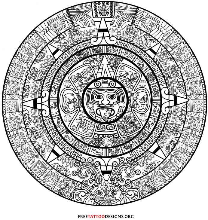 Nice Aztec Tattoo Design