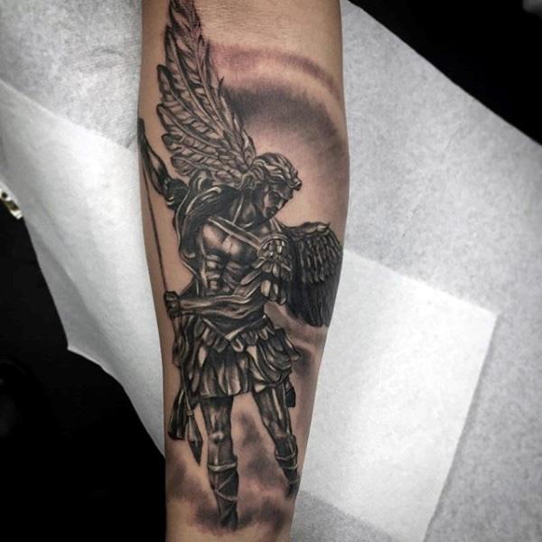 7ecd37fb0 Realistic Angel Tattoo On Arm Sleeve