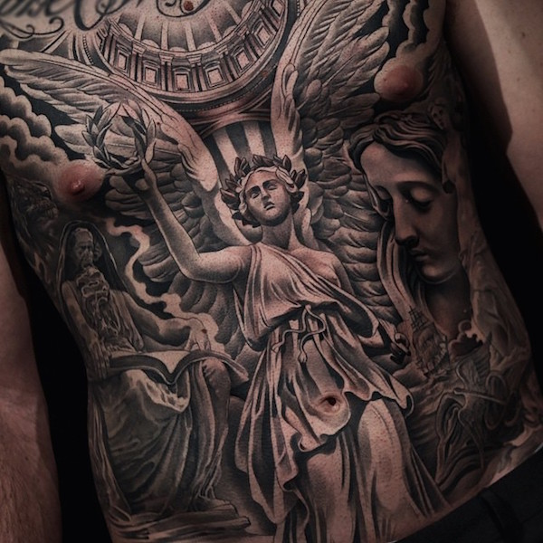 50 Aneglic Heaven Tattoos Ideas And Designs 2018: Angel Tattoo Images & Designs