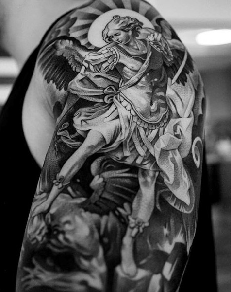 Right Shoulder Archangel Tattoo