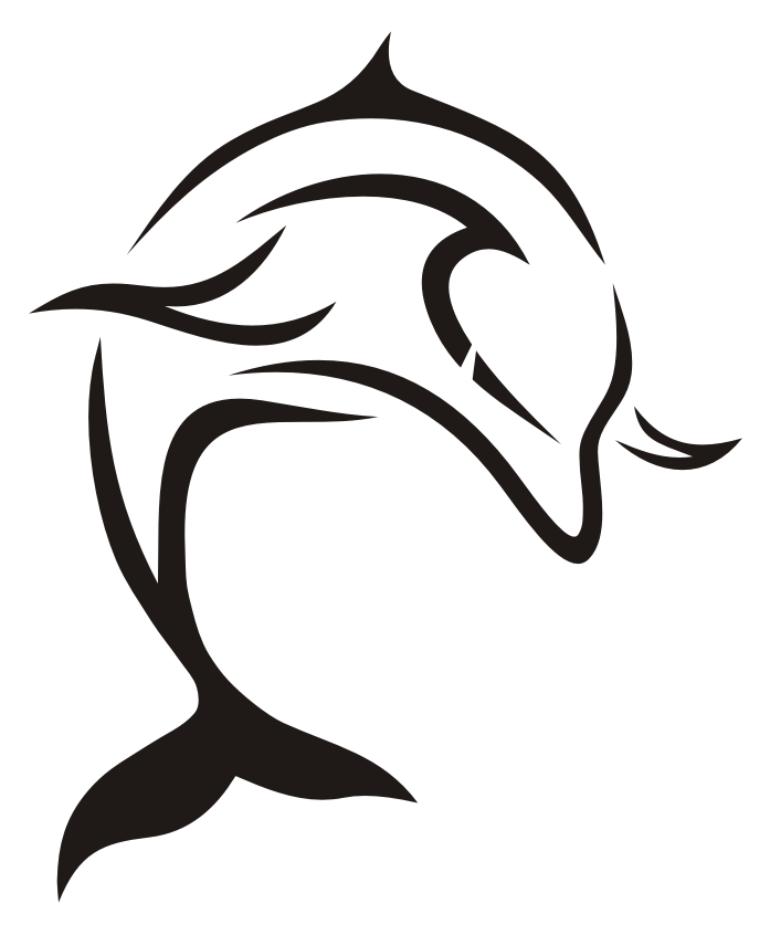 Awesome Tribal Dolphin Tattoo Design