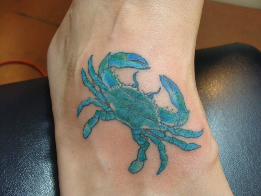 Tattoo crab spank lower back