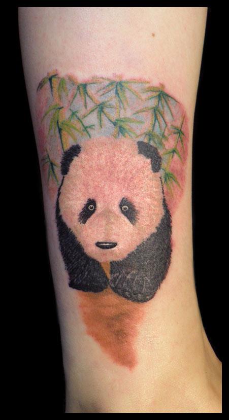 Girl Rib Side Panda Tattoo Idea For Girls
