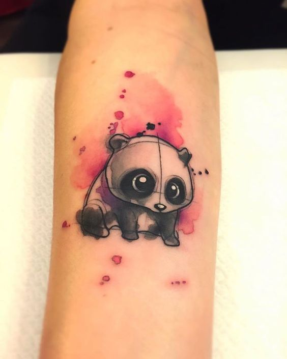 Panda Tattoo On Forearm