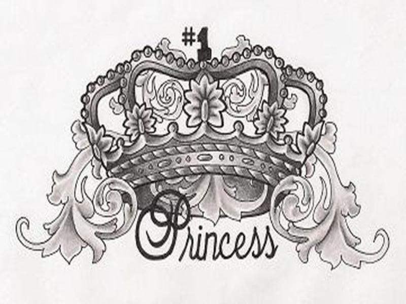Princess Crown Tattoo Design