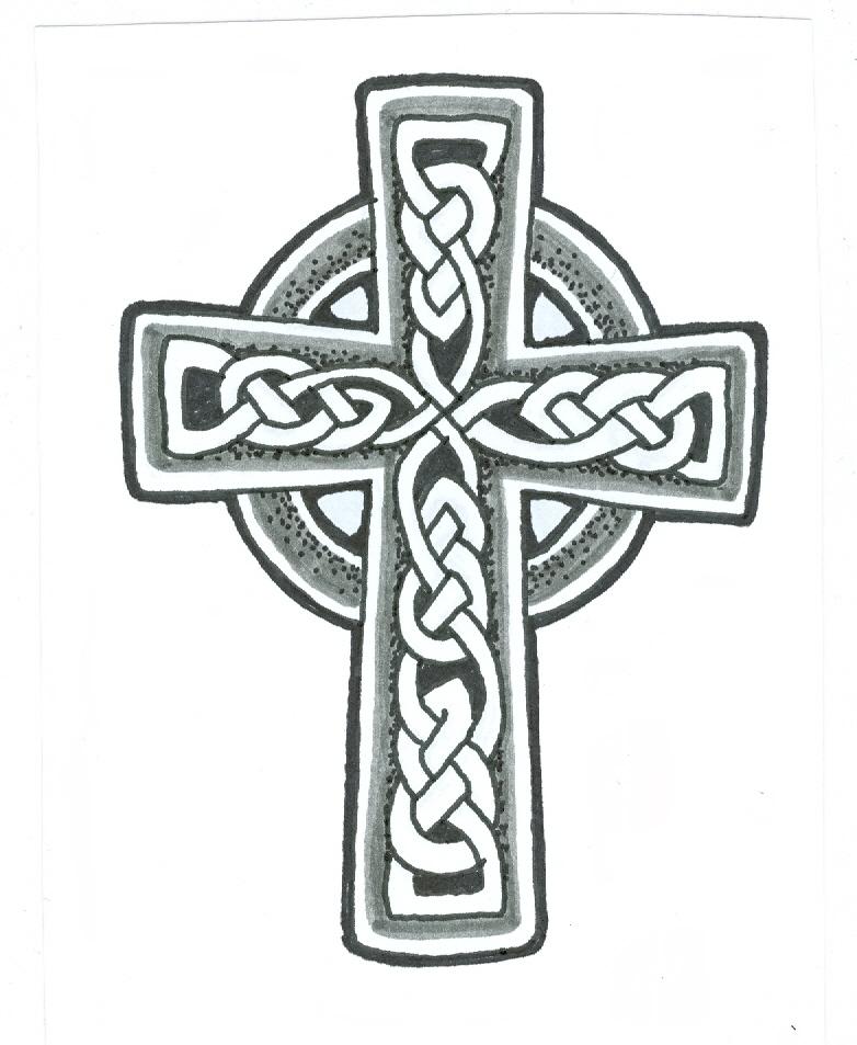 Tribal Cross Tattoo Design Sample