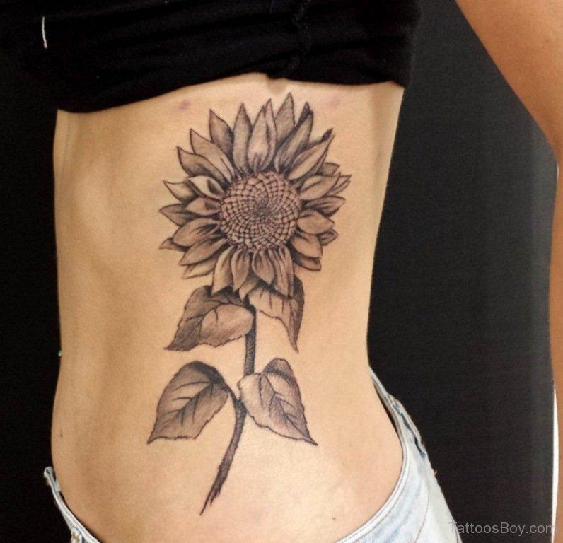 sunflower tattoo images designs. Black Bedroom Furniture Sets. Home Design Ideas