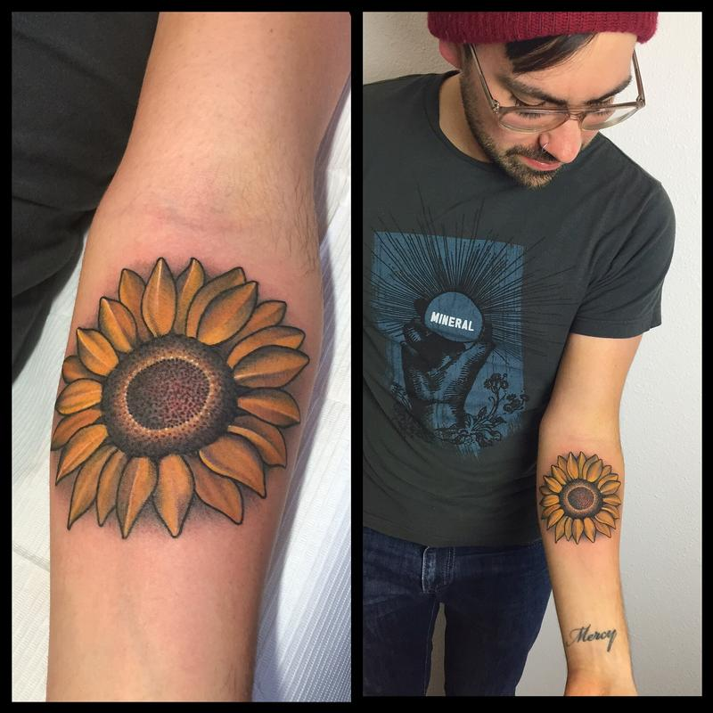 Sunflower Henna Tattoo: Sunflower Tattoo Images & Designs