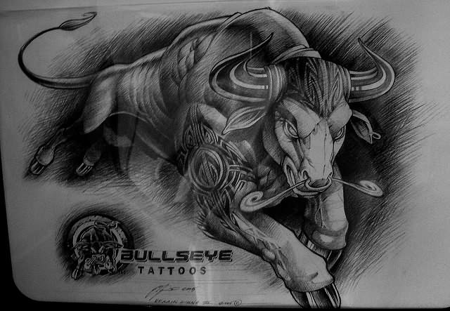 tattoo lamborghini - Bull Tattoo Images & Designs