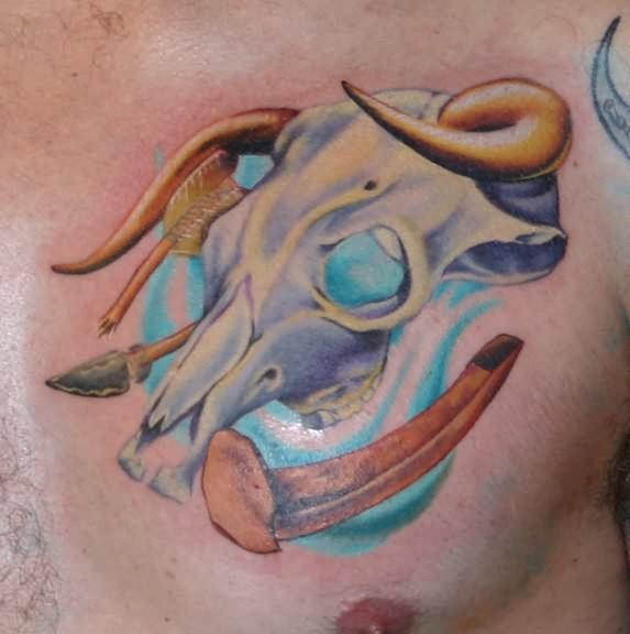 Bull Images Tattoos Tattoo Andy Bull Skull