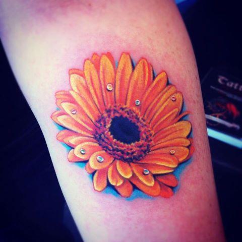 Daisy sleeve tattoo for Daisy of love tattoo sleeve