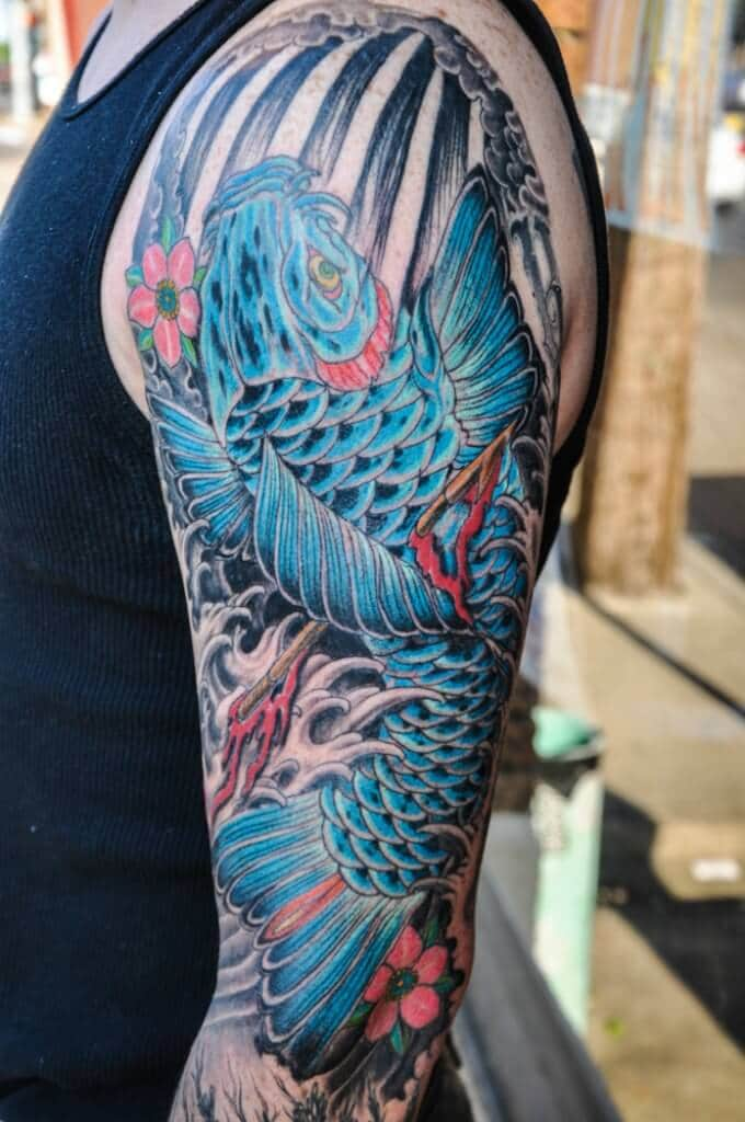 Fish tattoo images designs for Blue coy fish tattoo
