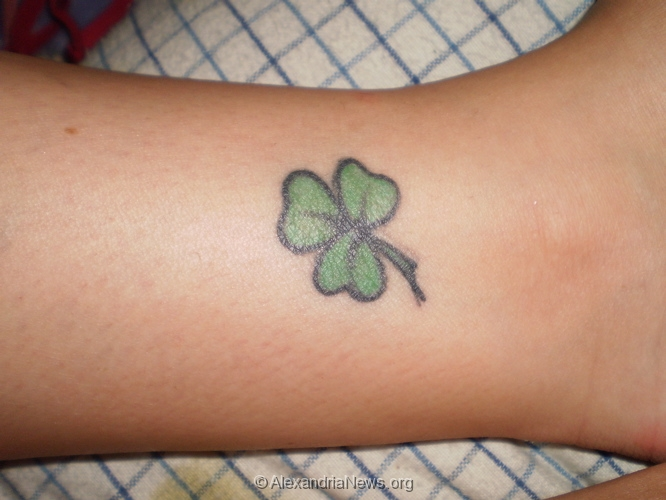 Clover tattoo images designs for Shamrock foot tattoo