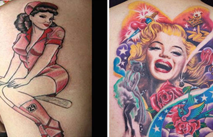 pin up girl tattoo images amp designs