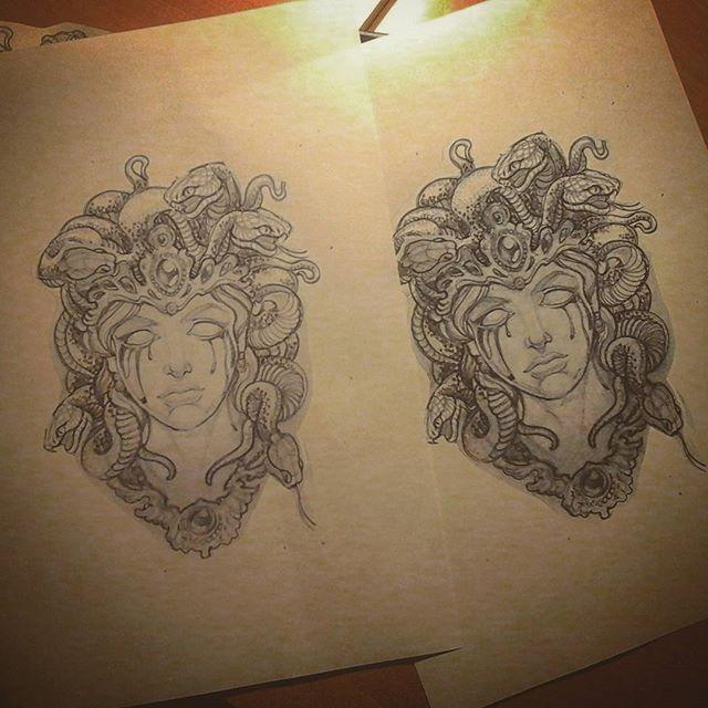 Madusa Tattoo Design