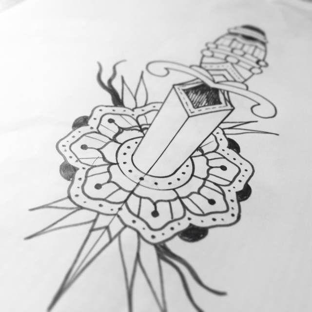 Dagger Tattoo Outline: Dagger Tattoo Images & Designs
