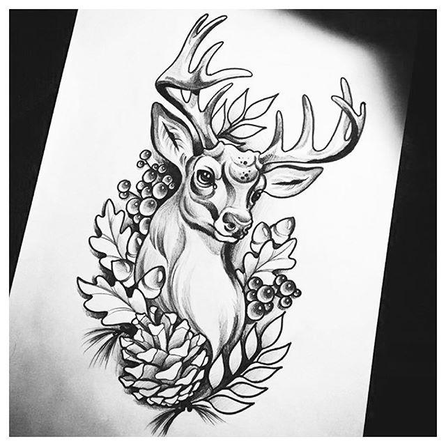 deer tattoo images designs. Black Bedroom Furniture Sets. Home Design Ideas