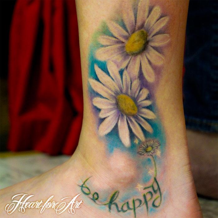 Heart Daisy Tattoo: Daisy Tattoo Images & Designs