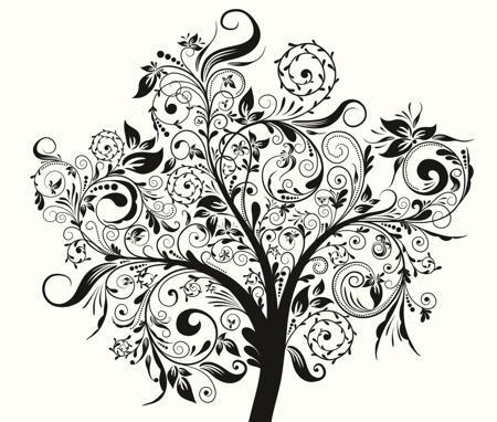 amazing black tree tattoo design. Black Bedroom Furniture Sets. Home Design Ideas
