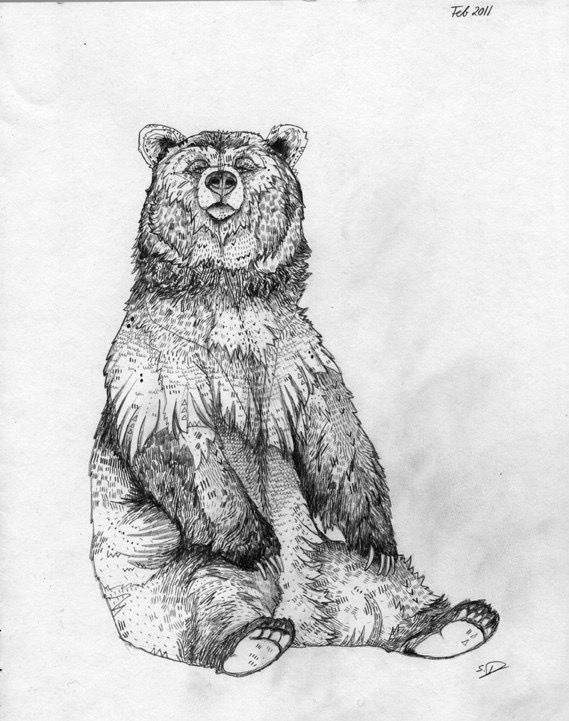 Bear Tattoo Design Sample