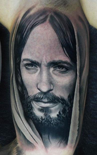 Mary And Baby Jesus Tattoo Design
