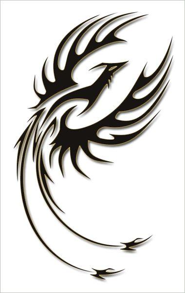862e508dc Black Tribal Flying Phoenix Tattoo Design