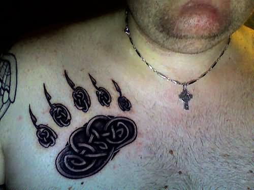 Celtic bear claw tattoo on front shoulder altavistaventures Choice Image