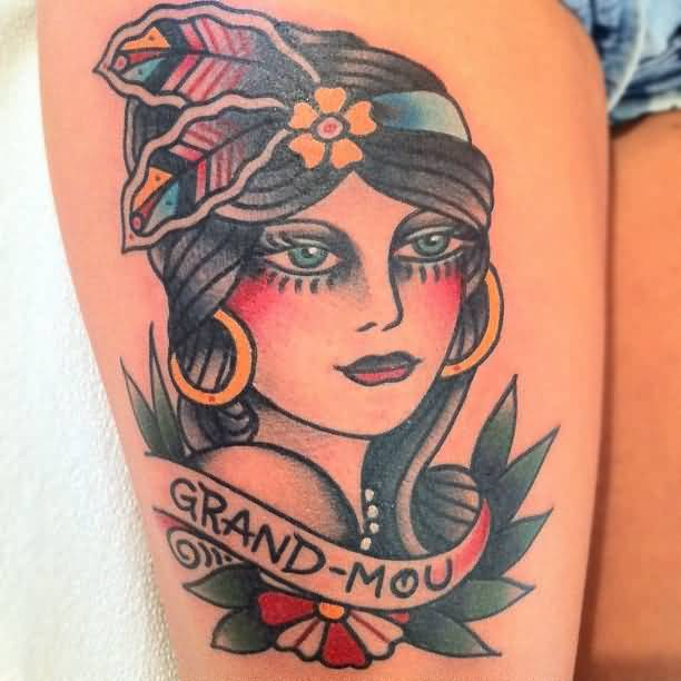 Tattoo Woman Gypsy: Gypsy Tattoo Images & Designs