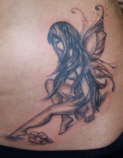 Tinkerbell Outline Tattoo