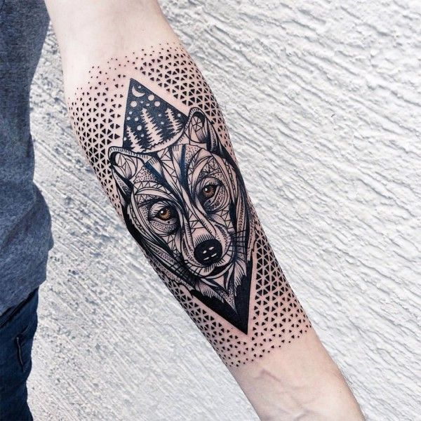 Left Forearm Bear Head Tattoo
