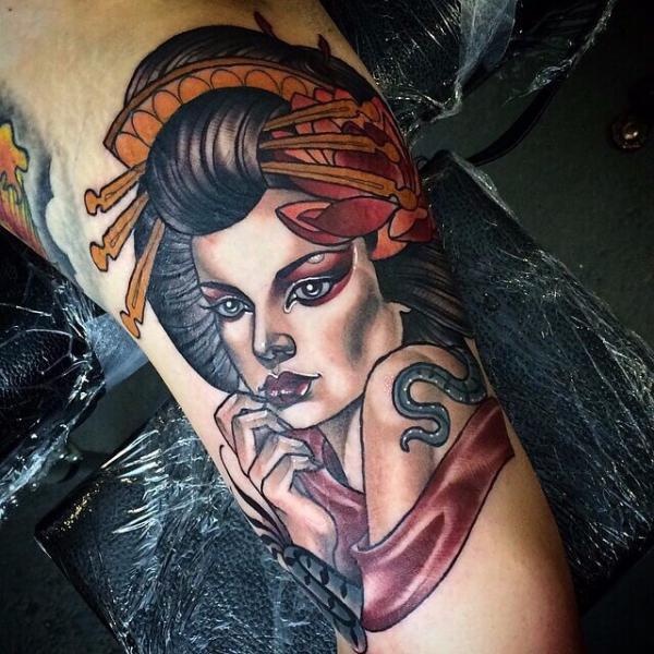 Geisha Tattoo Images Designs