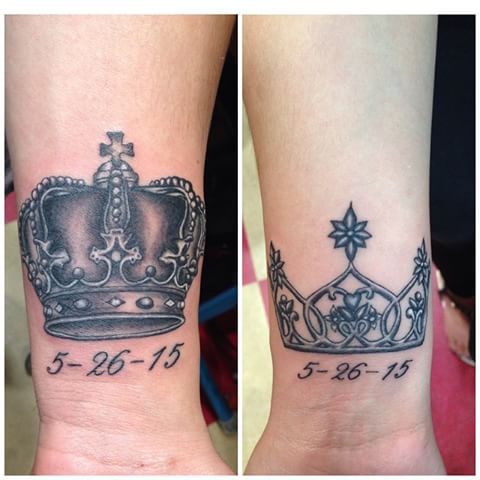 Crown tattoo images designs for Matching king and queen tattoos