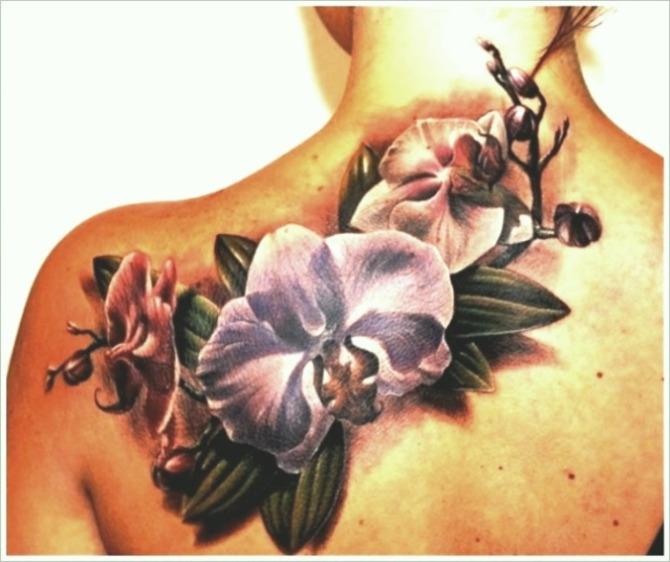 Орхидея тату черная