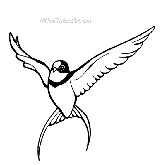 Flying Sparrow Silhouette at GetDrawingscom  Free for