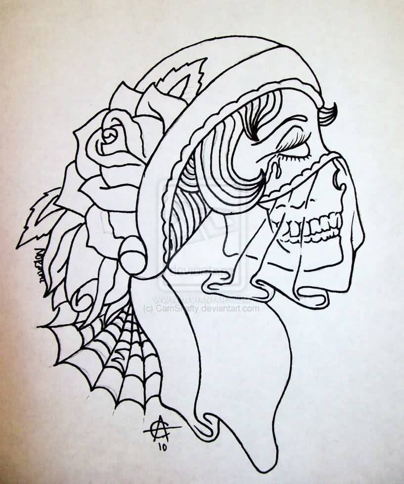 Tattoo Outlines For Girls: Gypsy Tattoo Images & Designs