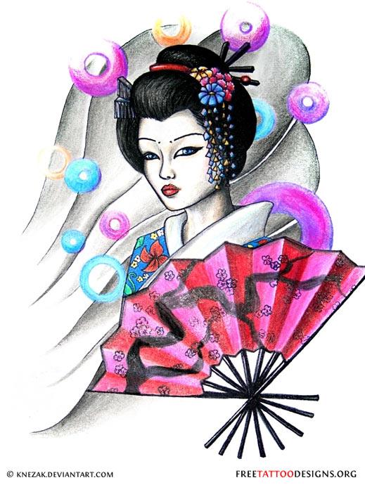 geisha sexy tattoo. Black Bedroom Furniture Sets. Home Design Ideas