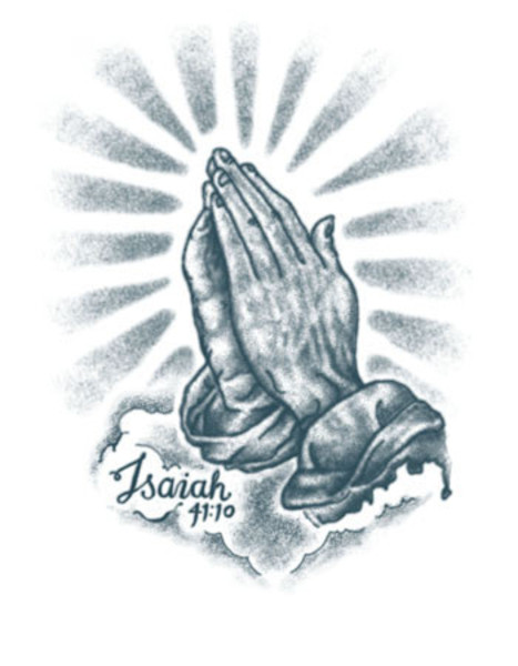 Praying Hands Tattoo Images amp Designs