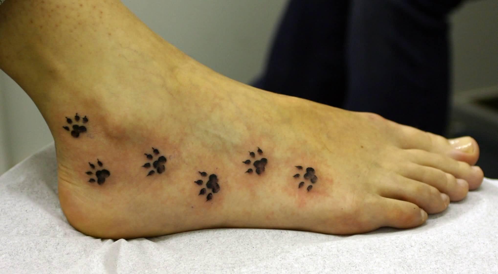 Тату кошки на ноге фото