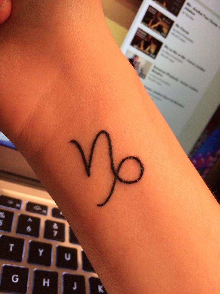 Capricorn Symbol Tattoo On Hip